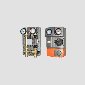 M2 Fix3–DN25 - Μονάδα Κυκλοφορητή με Ρυθμιζόμενη Θερμοστατική τρίοδη βάνα