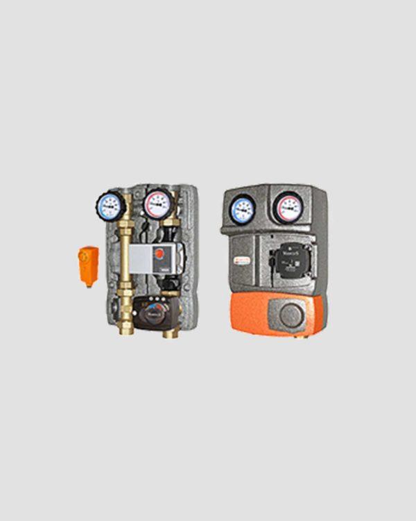 M2 Mix3 Fix–DN25-Inc Μονάδα Κυκλοφορητή με τρίοδη βάνα & μοτέρ με Ενσωματωμένο Ελεγκτή